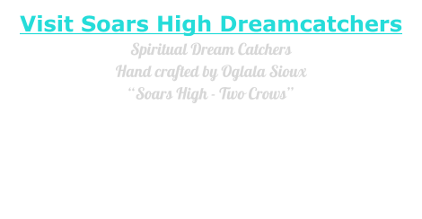 "Visit Soars High DreamcatchersSpiritual Dream CatchersHand crafted by Oglala Sioux ""Soars High - Two Crows"" Each is an exceptional one-of-a-kind creation suspended in a Rare Earth magnetic field permitting it to float  and move freely within a natural Cedar Frame mounted on a Chaka Canyon Table Stone Base."